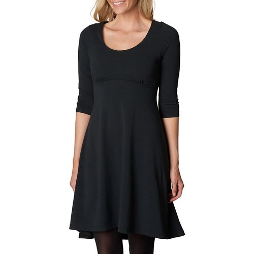 Womens prAna Cali L/S Dresses - Black S