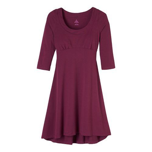 Womens prAna Cali L/S Dresses - Purple L