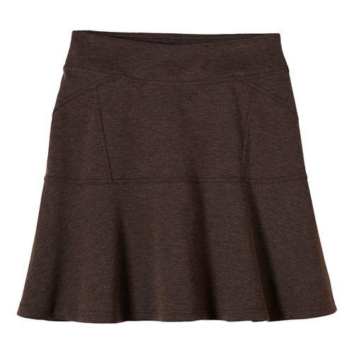 Womens prAna Gianna Fitness Skirts - Brown S