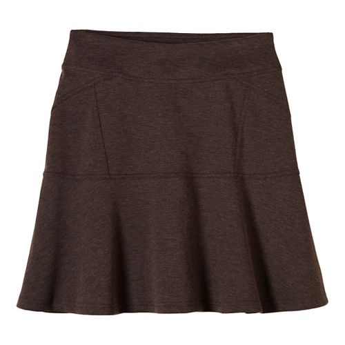 Womens prAna Gianna Fitness Skirts - Brown XL