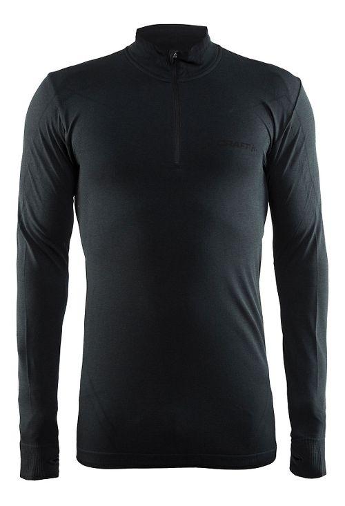 Mens Craft Active Comfort Zip Long Sleeve Technical Tops - Black S