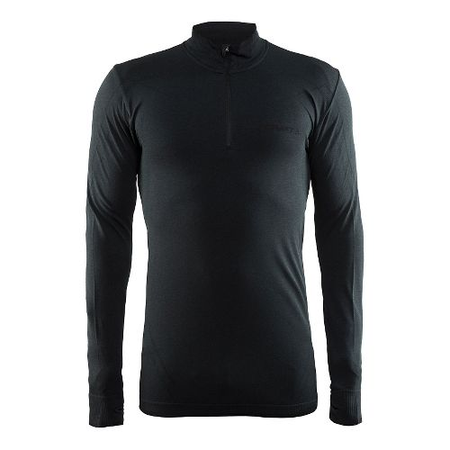 Mens Craft Active Comfort Zip Long Sleeve Technical Tops - Black L