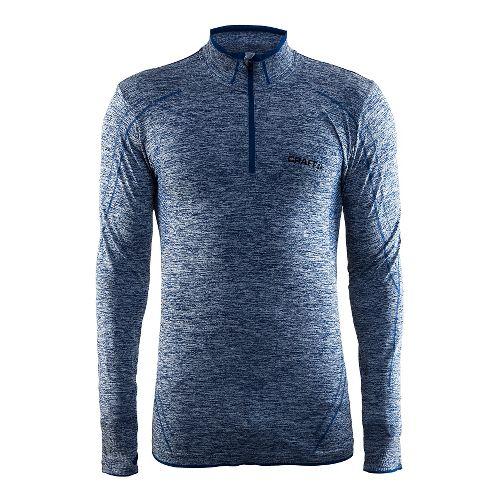 Mens Craft Active Comfort Zip Long Sleeve Technical Tops - Deep Blue S