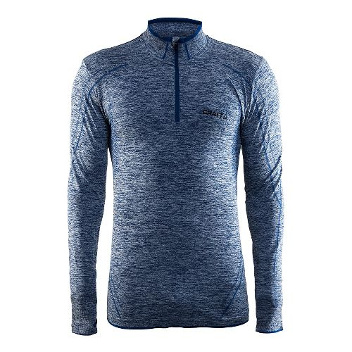 Mens Craft Active Comfort Zip Long Sleeve Technical Tops - Deep Blue XL