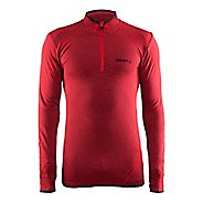 Mens Craft Active Comfort Zip Long Sleeve Technical Tops