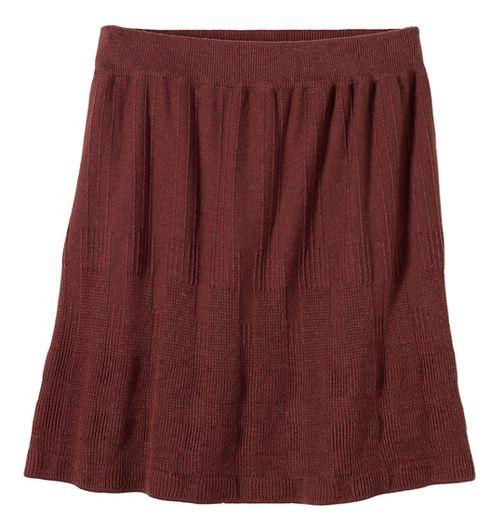 Womens prAna Harper Fitness Skirts - Brown/Brown L