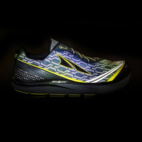 Mens Altra Torin iQ Running Shoe - Grey/Yellow 11.5