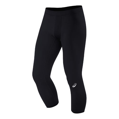 Mens ASICS 3/4 Tight Capris Pants - Dark Grey Geo S