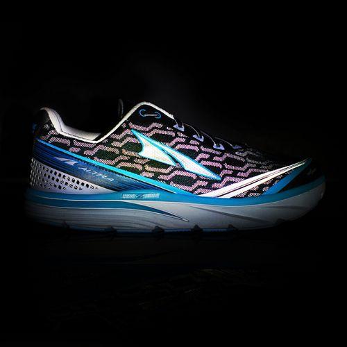 Womens Altra Torin iQ Running Shoe - Silver/Blue 10