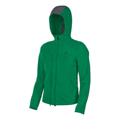 Mens ASICS Accelerate Running Jackets - Jungle Green S