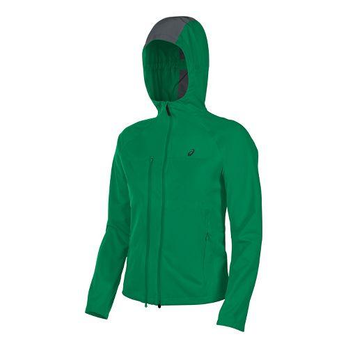Mens ASICS Accelerate Running Jackets - Jungle Green XL