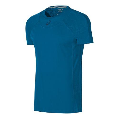 Mens ASICS Athlete Cooling Short Sleeve Technical Tops - Thunder Blue S