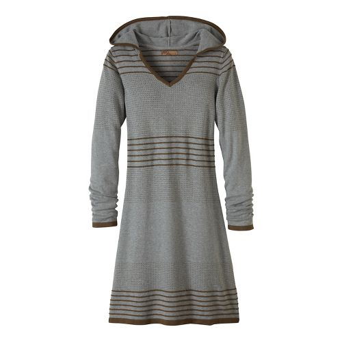 Womens prAna Mariette Dress Fitness Skirts - Grey/Grey XS