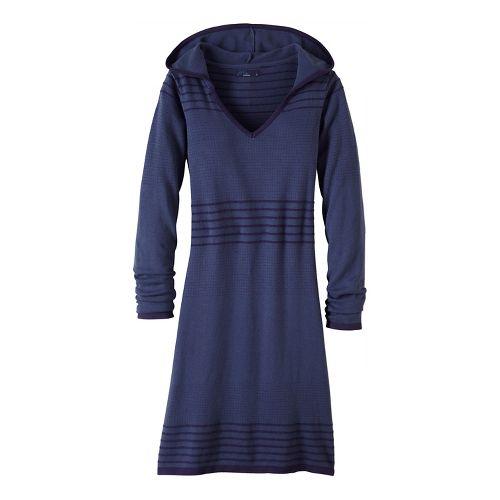 Womens prAna Mariette Dress Fitness Skirts - Grey S