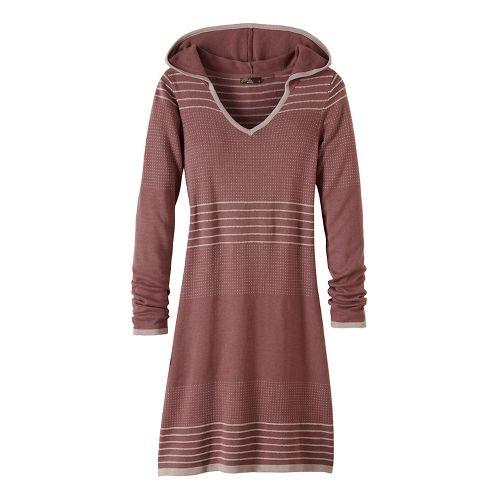Womens prAna Mariette Dress Fitness Skirts - Brown M