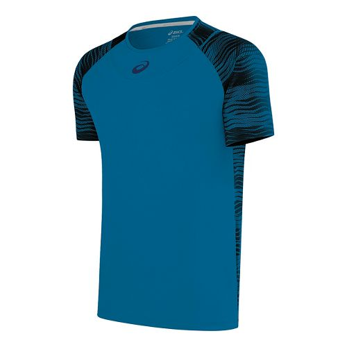 Mens ASICS Club GPX Short Sleeve Technical Tops - Thunder Blue S