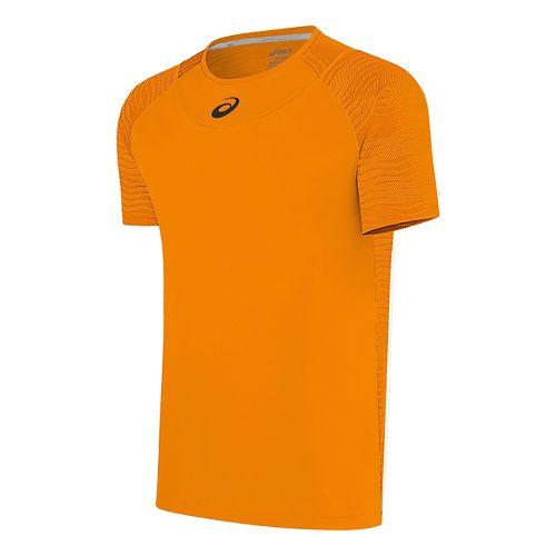 Mens ASICS Club GPX Short Sleeve Technical Tops - Orange Pop L