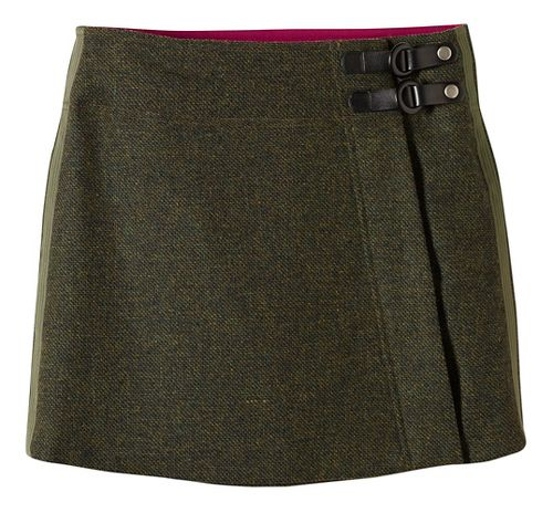 Womens prAna Quincy Fitness Skirts - Green XL
