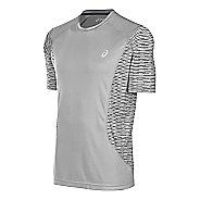 Mens ASICS Favorite Printed Short Sleeve Technical Tops