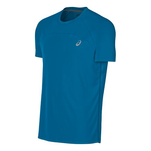 Mens ASICS Favorite Short Sleeve Technical Tops - Thunder Blue L