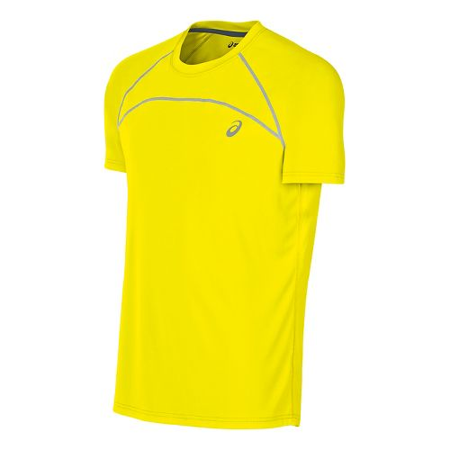 Mens ASICS Favorite Short Sleeve Technical Tops - Safety Yellow XL