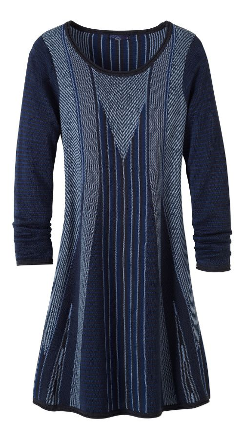 Womens prAna Whitley Dresses - Blue L
