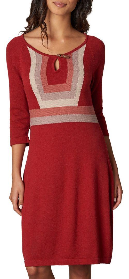 Womens prAna Yarrah Dresses - Red M
