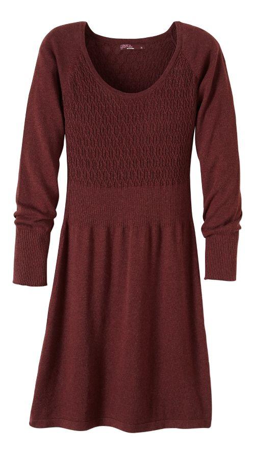 Womens prAna Zora Dresses - Brown XL