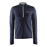 Mens Craft Facile Embossed Half Zip Long Sleeve Technical Tops