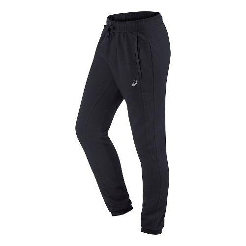 Mens ASICS Fleece Pants - Black L