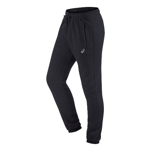 Mens ASICS Fleece Pants - Black M