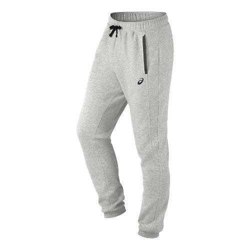 Mens ASICS Fleece Pants - Light Grey Heather M