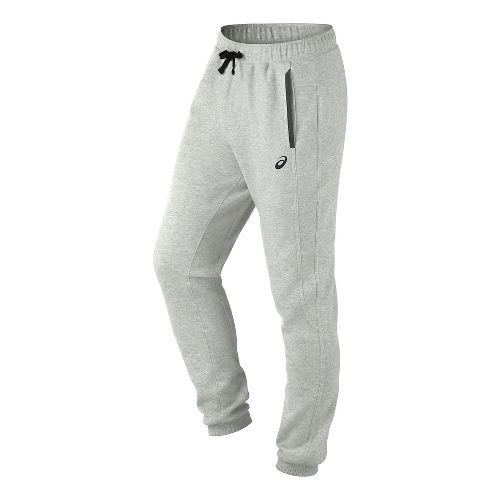Mens ASICS Fleece Pants - Light Grey Heather S