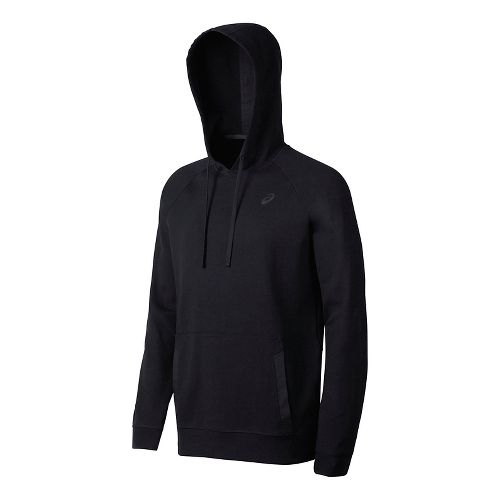 Mens ASICS Fleece Pullover Half-Zips & Hoodies Technical Tops - Black M