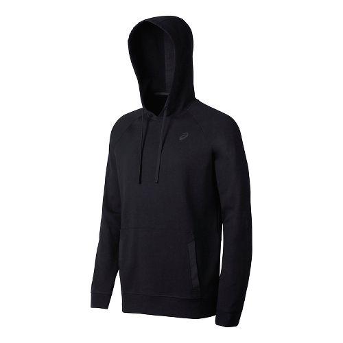 Mens ASICS Fleece Pullover Half-Zips & Hoodies Technical Tops - Black XL