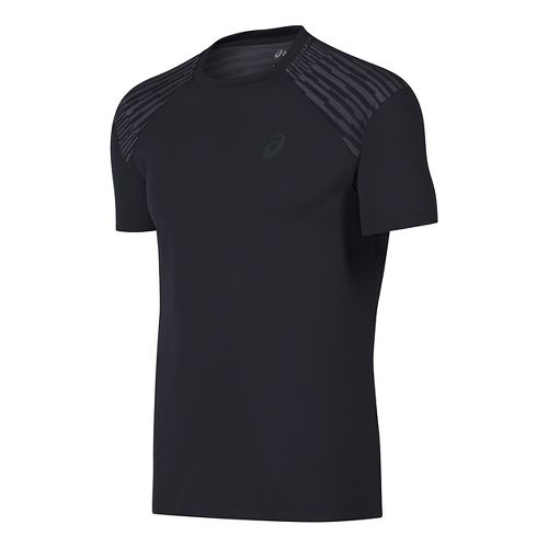 Mens ASICS fuzeX Tee Short Sleeve Technical Tops - Black L