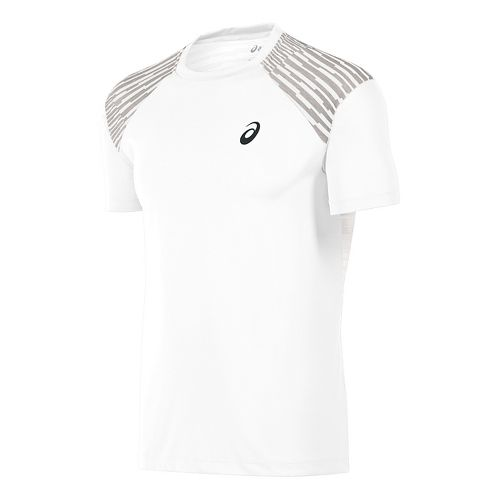 Mens ASICS fuzeX Tee Short Sleeve Technical Tops - White L