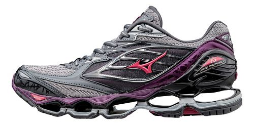 Womens Mizuno Wave Prophecy 6 Running Shoe - Grey/Purple 8.5