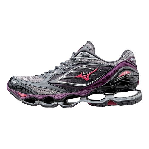 Womens Mizuno Wave Prophecy 6 Running Shoe - Grey/Purple 6