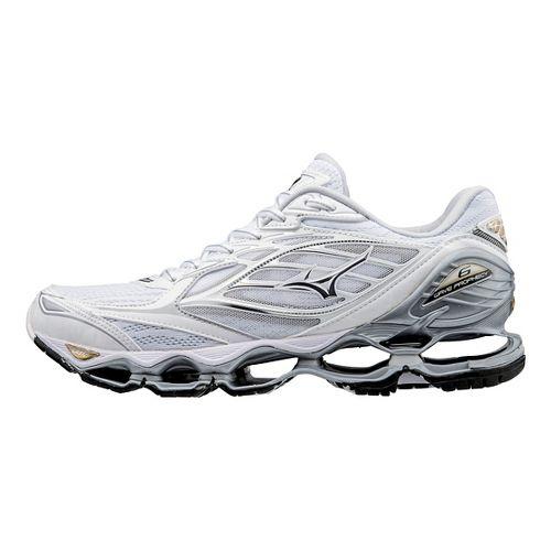 Womens Mizuno Wave Prophecy 6 Running Shoe - White/Gold 9