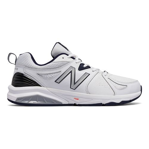 Mens New Balance 857v2 Cross Training Shoe - White/Navy 11.5