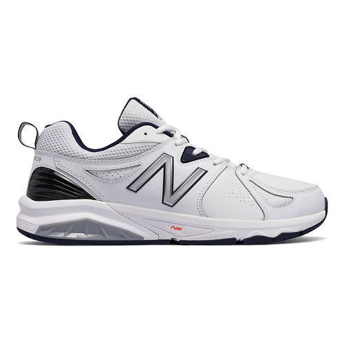 Mens New Balance 857v2 Cross Training Shoe - White/Navy 7