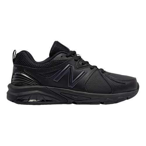 Womens New Balance 857v2 Cross Training Shoe - Black/Black 10.5