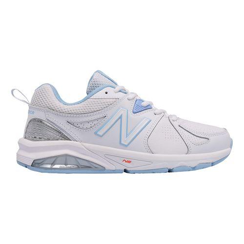 Womens New Balance 857v2 Cross Training Shoe - White/Light Blue 10.5