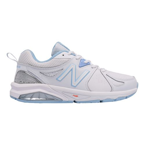 Womens New Balance 857v2 Cross Training Shoe - White/Light Blue 12