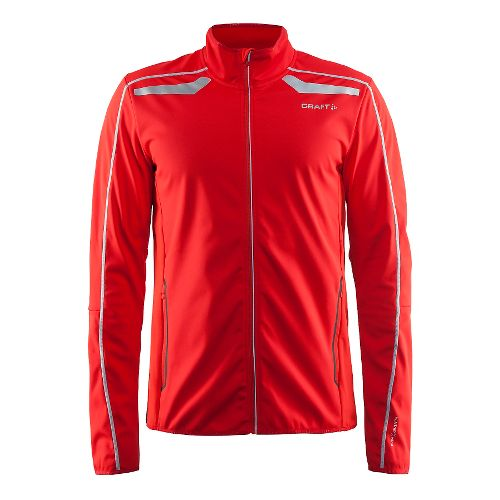 Mens Craft Intensity Softshell Cold Weather Jackets - Drama Red XL