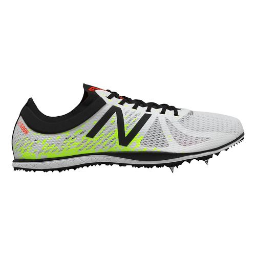 Mens New Balance LD5000v4 Track and Field Shoe - White/Yellow 11.5