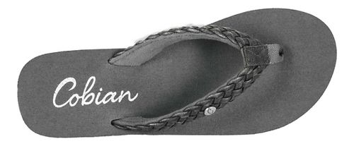 Womens Cobian Braided Bounce Sandals Shoe - Charcoal 6