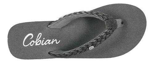 Womens Cobian Braided Bounce Sandals Shoe - Charcoal 7