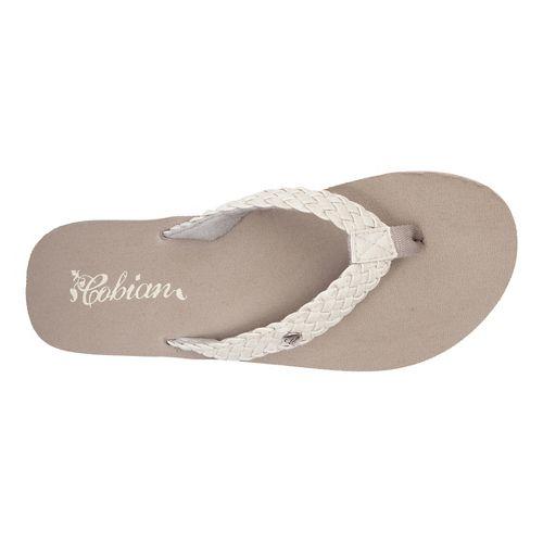 Womens Cobian Braided Bounce Sandals Shoe - Cream 7